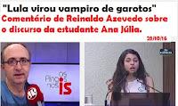 """""""Lula virou vampiro de garotos"""", diz Reinaldo Azevedo sobre invasão no PR"""