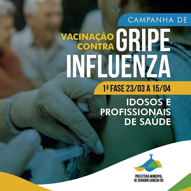 Senador Canedo: Campanha de vacinação segue com novos pontos de atendimento