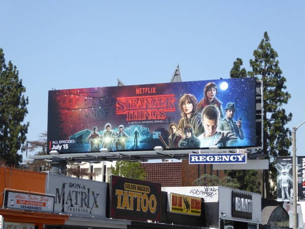 Stranger Things TV series billboard