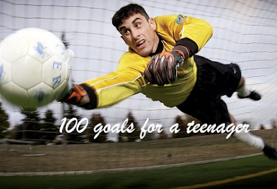 100 goals for a teenager