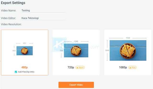 Sobat bisa langsung klik Export Video untuk mulai mengeskpor dan tunggu beberapa saat sampai proses pembuatan video selesai lalu klik Download Here untuk mengunduhnya.
