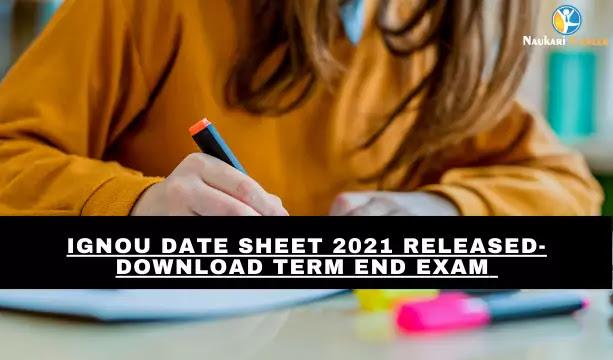 IGNOU Date Sheet 2021