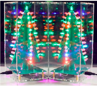 Colorful Christmas Trees with RGB LED Lights and Music Player