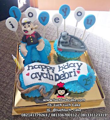 Cupcake Pelaut Popeye