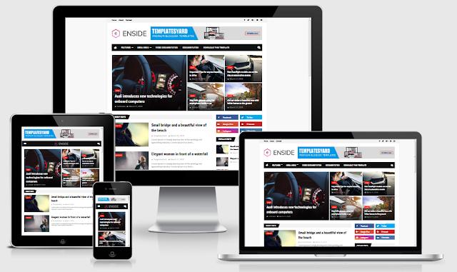 Download Template Enside Premium Blogger Gratis