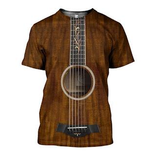 Remera con diseño de guitarra