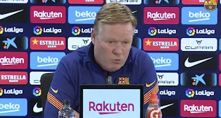 Barca boss Koeman reacts to PSG defeat: 'We were below our level but the world doesn't end here'
