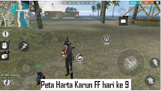 Peta Harta Karun FF hari ke 9 di event pirate's treasure chest