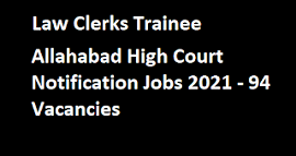 Allahabad High Court Law Clerk Notification