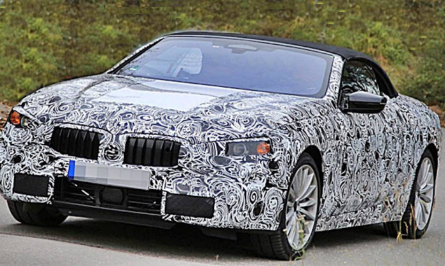 2020 BMW 8-Series Convertible spy shots