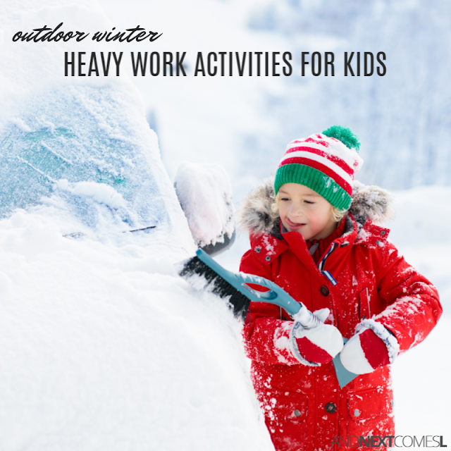 List of winter heavy work activities for kids to do outdoors in the snow