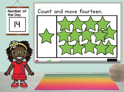 Digital Number of the Day has students counting sets