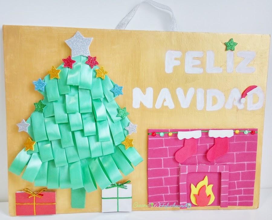 cartel-navideño-reciclando-cartón-y-goma-eva-creandoyfofucheando