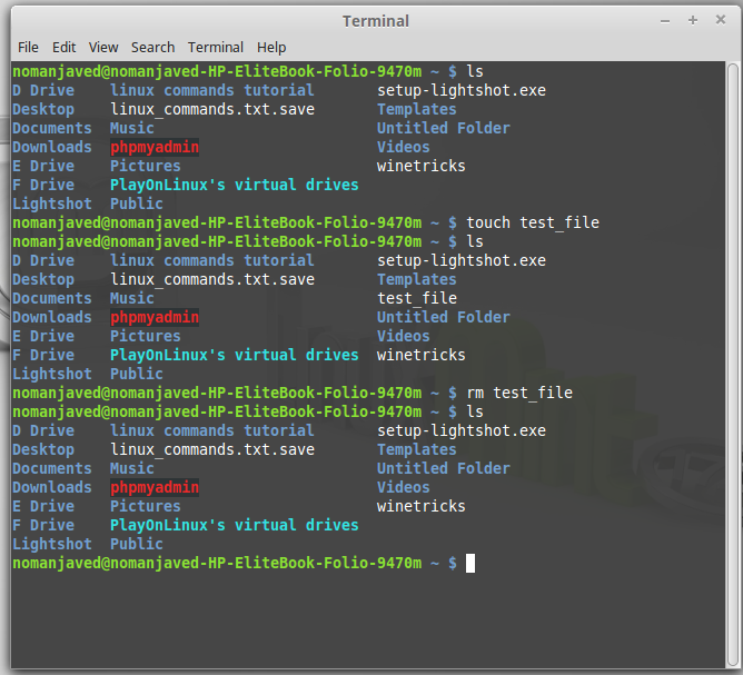 how to delete a file in terminal