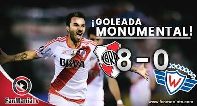 ¡Goleada Monumental! River Plate aplastó 8-0 a Jorge Wilstermann y clasificó a las semifinales de la Copa Libertadores 2017