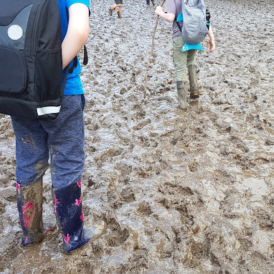 Just So Festival with Glastonbury style mud 6 inches deep everywhere