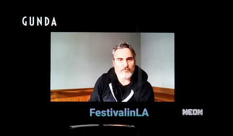 Gunda, executive producer Joaquin Phoenix. Photo: José Alberto Hermosillo, Festival in LA ©2020