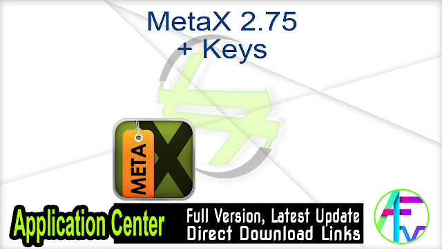 MetaX 2.75 + Keys