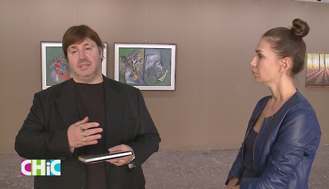 Italian artist Giacomo Puntelli opens a painting exhibition in Tirana; representing his new book