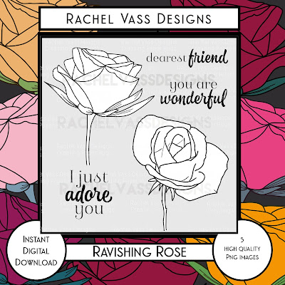 Rachel Vass Designs - Ravishing Rose