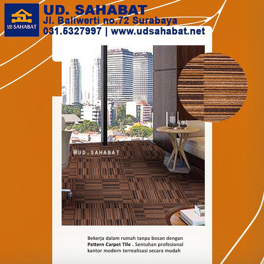 desain ruang kerja rooftop karpet kantor modern minimalis