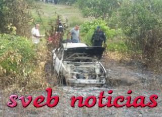 Incendian taxi con dos personas encajueladas en Alamo Veracruz