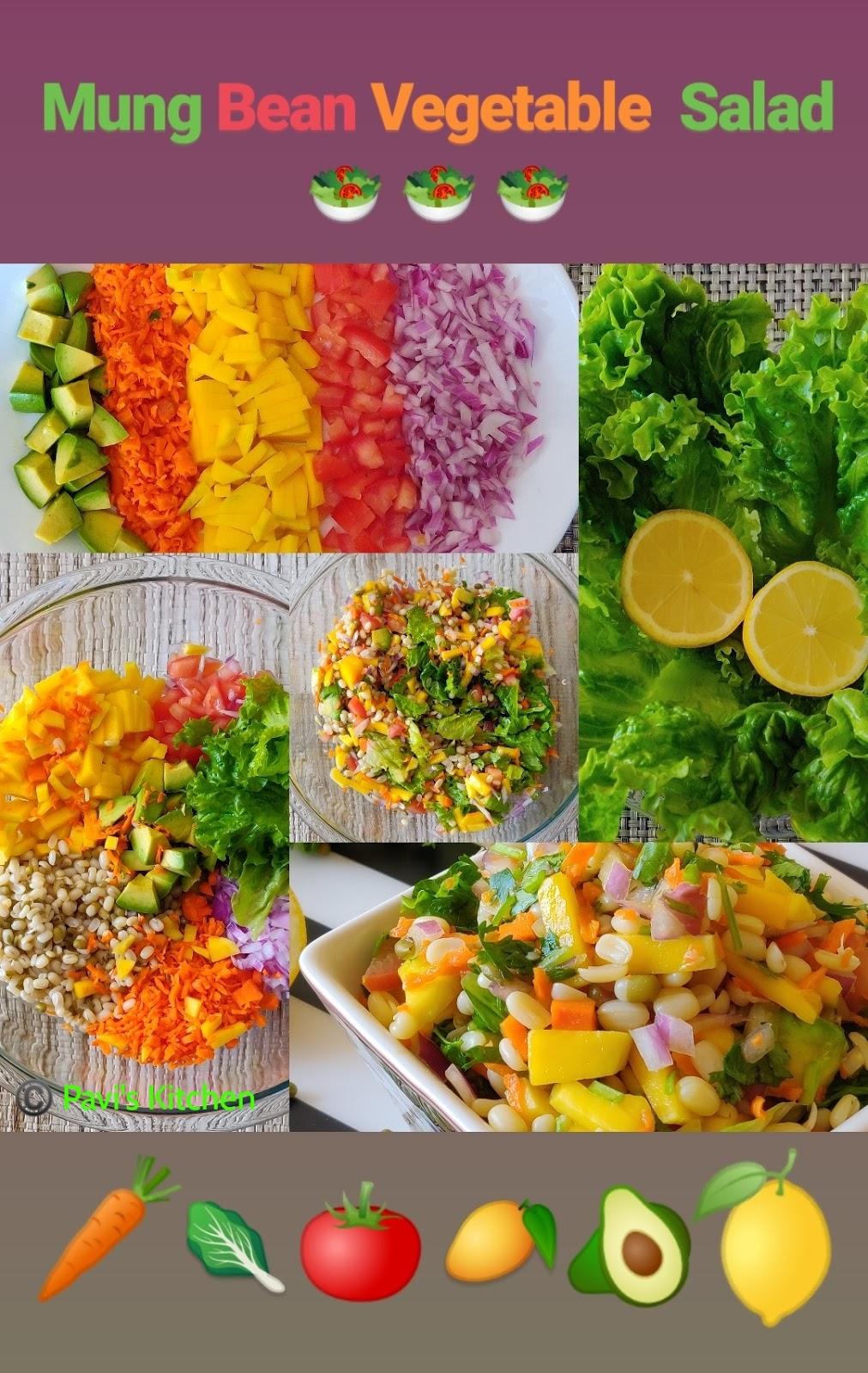 Indian Mung bean vegetable salad Recipe