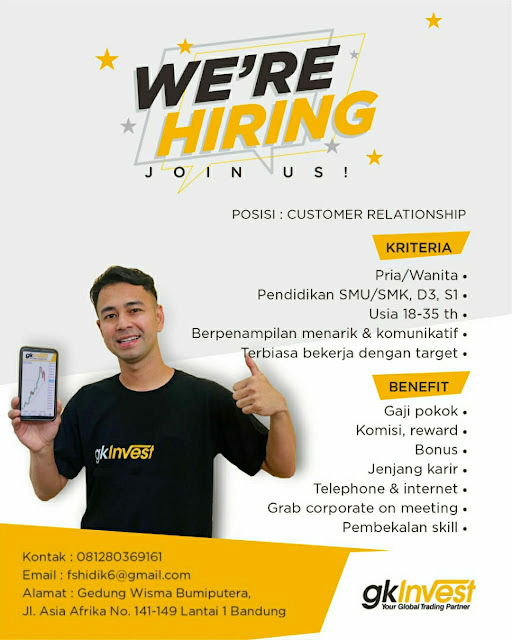 Lowongan Kerja GK Invest Bandung Agustus 2021