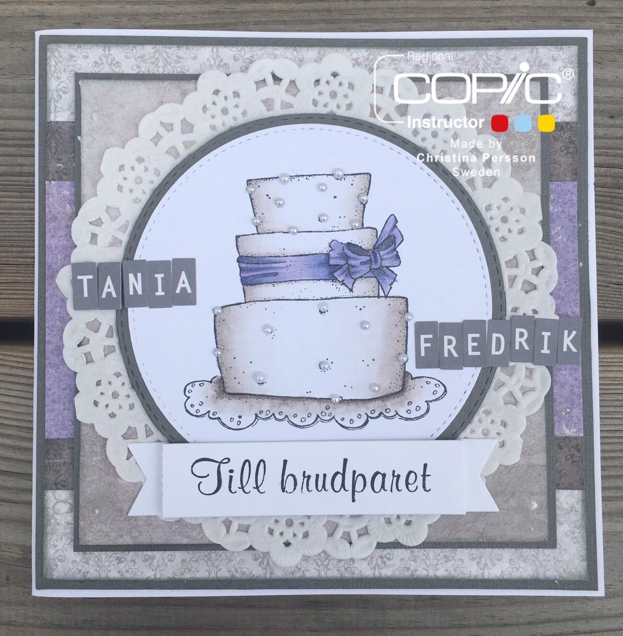 copic marker europe wedding card