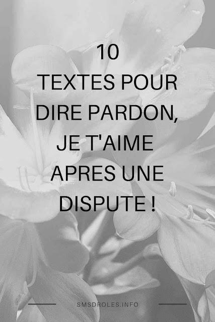 texte pardon mon amour