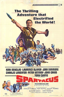 Poster for Spartacus (1960) movieloverreviews.filminspector.com