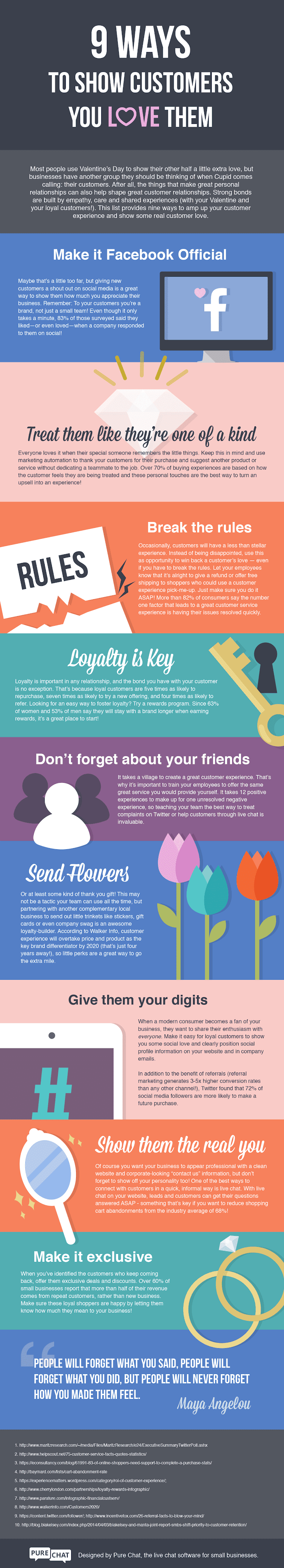 9 Ways To Show Customers You Love Them #infographic
