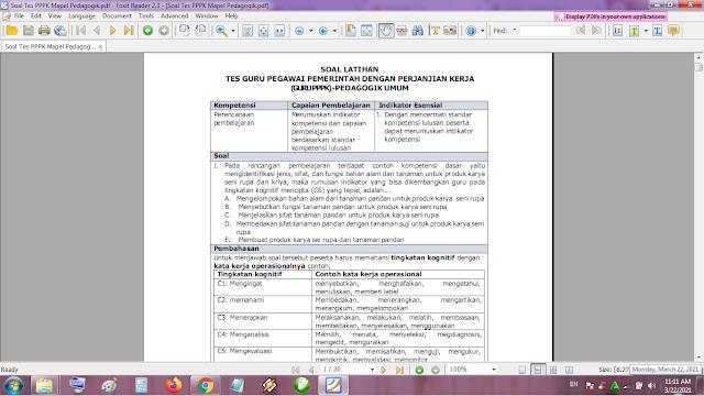 Kumpulan Contoh Soal Tes Seleksi Guru PPPK atau P3K Pedagogi Lengkap Kunci Jawaban
