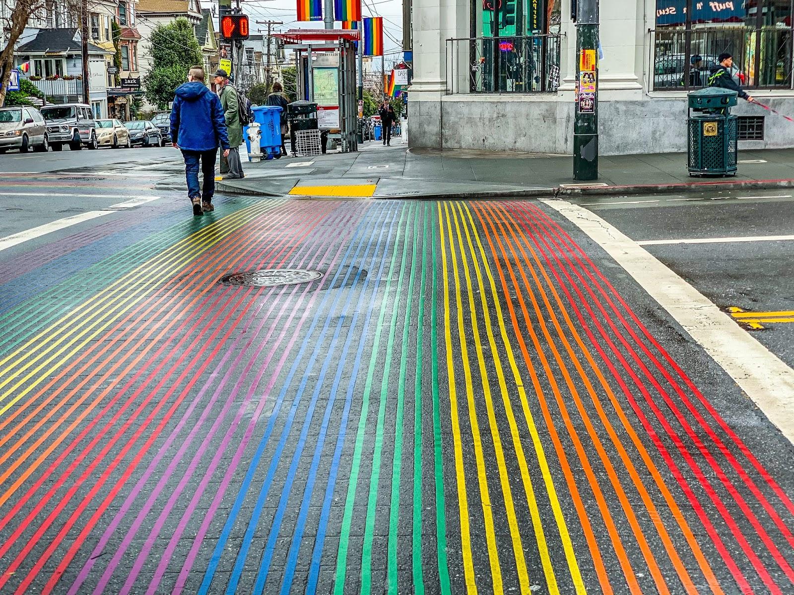 Rainbow Crosswalk Castro