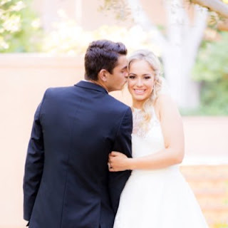 Taylor Fritz And Raquel Pedraza During Their Wedding Photoshoot