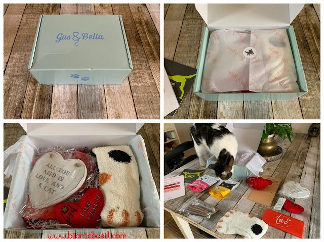 What's In The Box ©BionicBasil® Gus & Bella Take Meowt Valentine's Box
