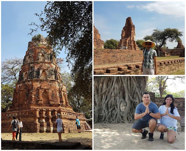 Wat Mahathat, suas construções e o famoso buda na árvore