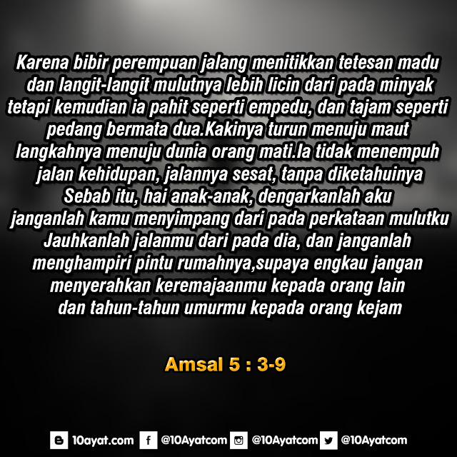 Amsal 5: 3-9