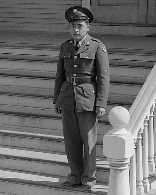 Japanese-American soldier 12 May 1942 worldwartwo.filminspector.com