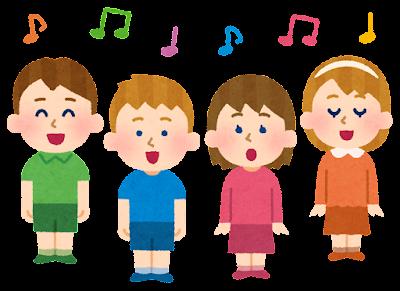 子供の合唱のイラスト(白人)