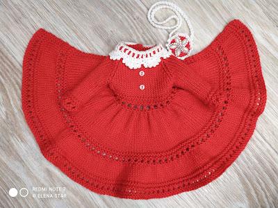 Платье вязаное спицами