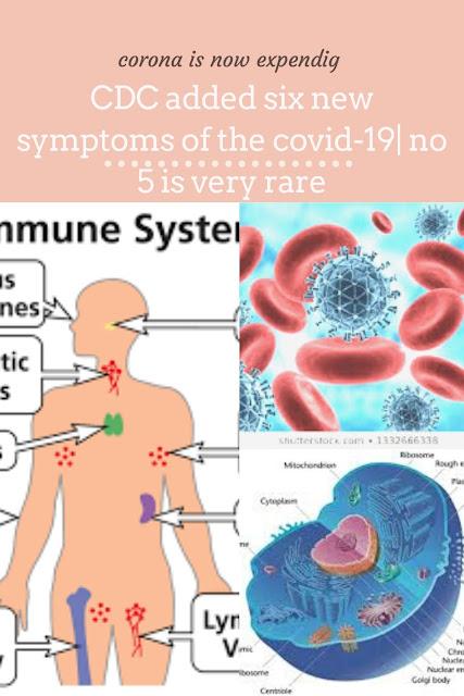 six new symptoms of covid-19