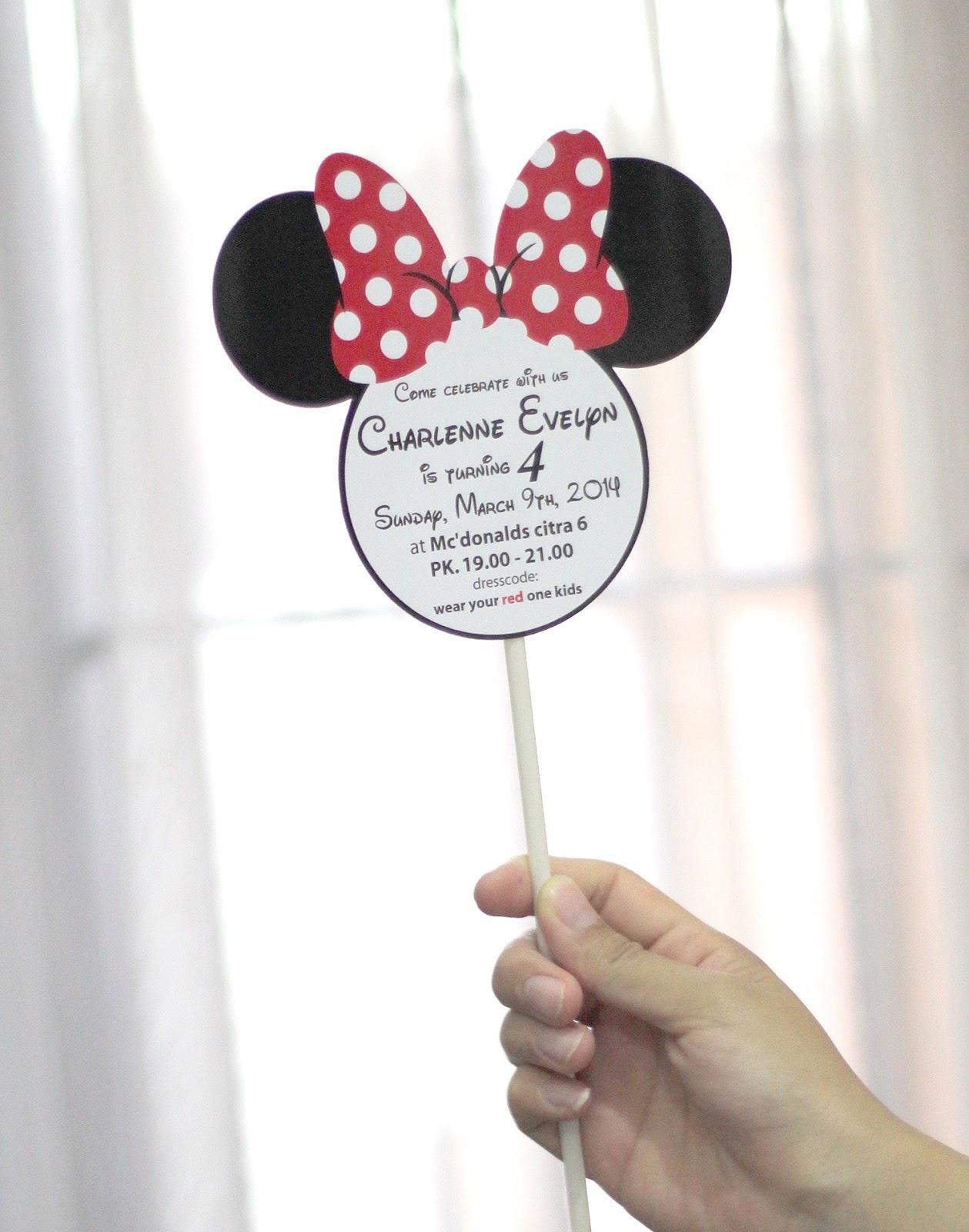 Comment on this picture ulang tahun anak contoh undangan kartu apps - Undangan Ulang Tahun Stik Minnie Mouse
