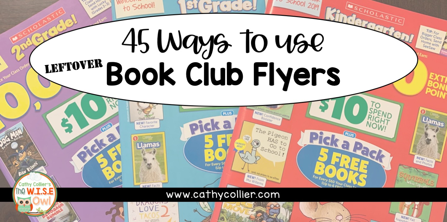 If your mailbox is full of book club flyers...use them! Here are 45 ideas for reading, writing, and math.