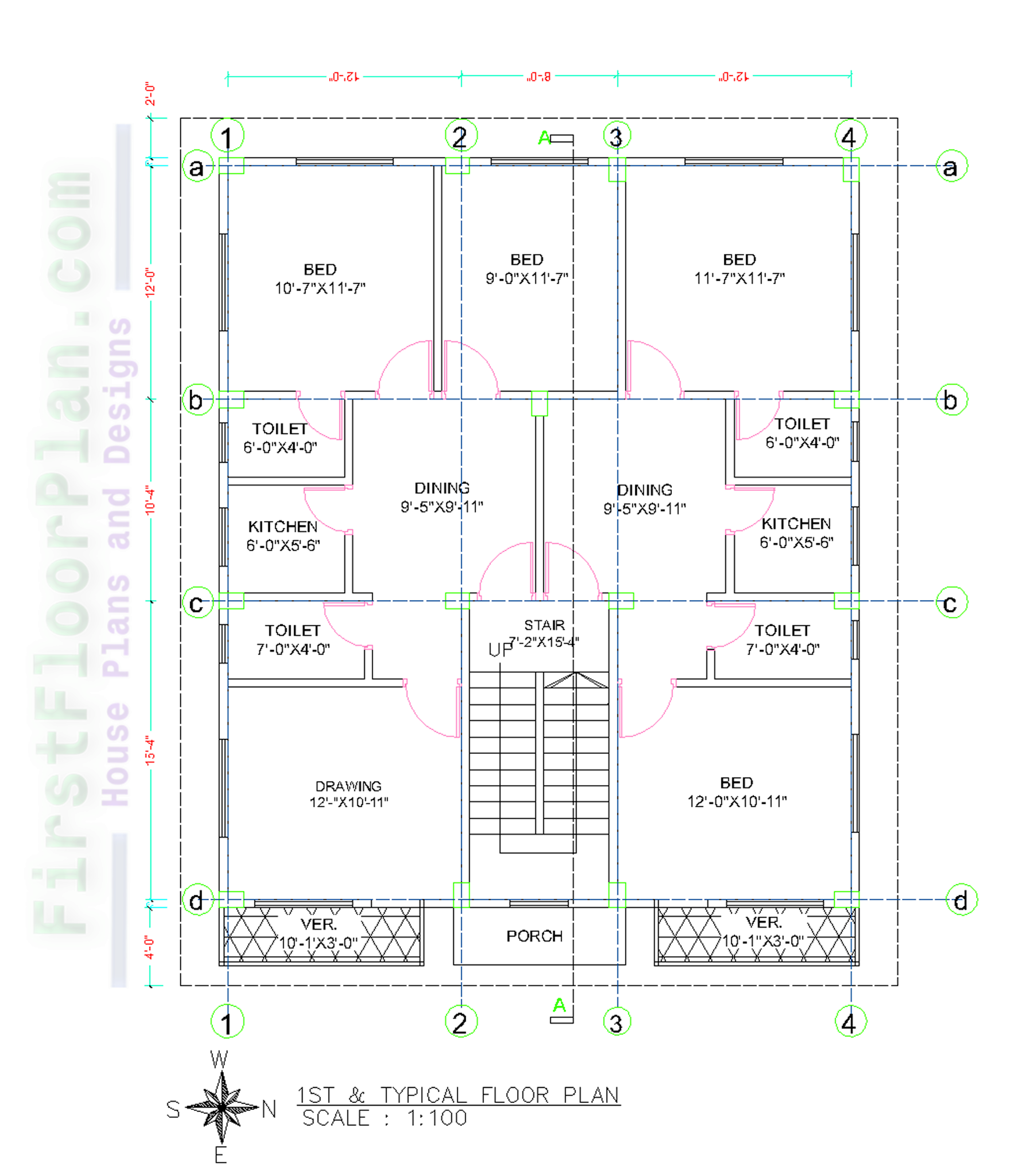 5 Story Apartment Building Floor Plan