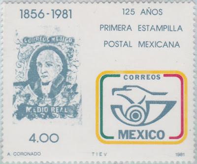 Primer timbre postal México