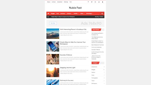 Nubie Fast & Banget - Responsive Blogger Template