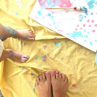 manualidad con niños cuadro itmum