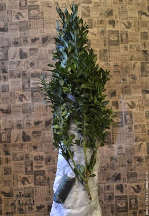 подарки, подарки на Новоый год, топиарий, елка своими руками, мастер-класс, топиарий своими руками, своими руками, интерьер новогодний, декор новогодний, Новый год, Рождество, декор праздничный, для интерьера,  Елка из подручного материала (МК и варианты), как сделать елку своими руками из настоящей хвои - мастер-класс, http://prazdnichnymir.ru/ Мастер-классы и идеи по созданию новогодних елок своими руками,
