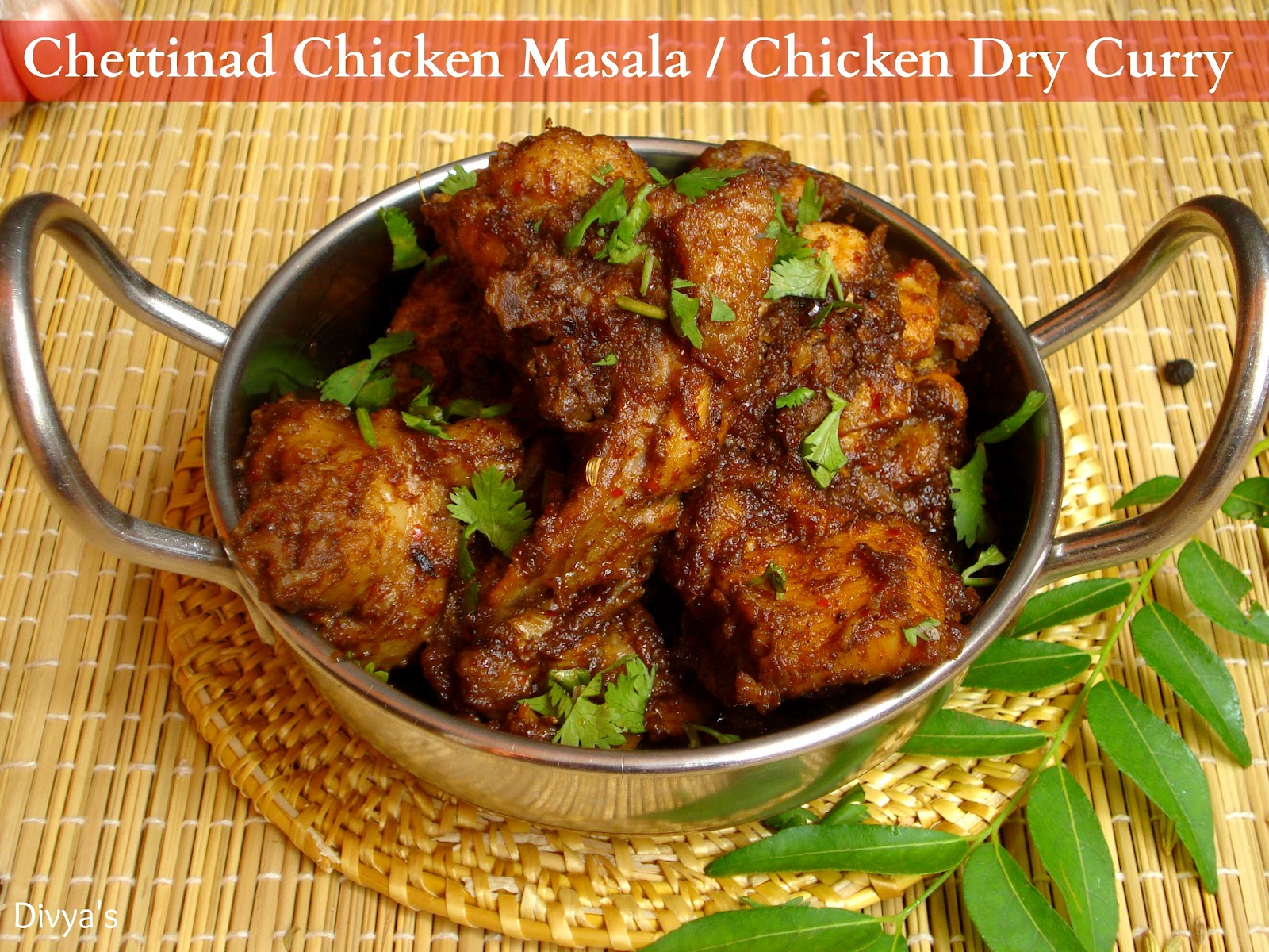 Chettinad Chicken Masala / Chicken Dry Curry - You Too Can ...